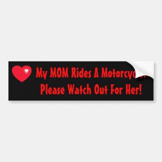 Meine MAMMA reitet ein Motorrad! Autoaufkleber