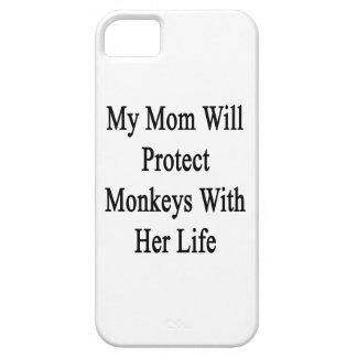 Meine Mamma schützt Affen mit ihrem Leben iPhone 5 Hülle