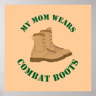 Meine Mamma trägt Kampf-Stiefel - Plakat