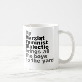 Meine marxistische feministische Dialektik holt Kaffeetasse