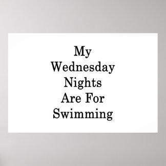 Meine Mittwoch-Nächte sind für das Schwimmen Poster