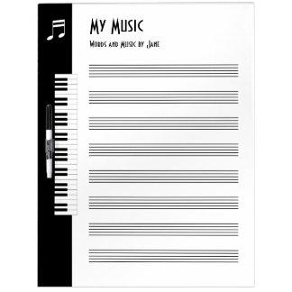 Meine Musik - Musiker-improvisiertes Musik-Brett Memoboard