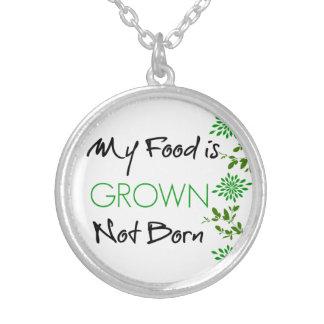 Meine Nahrung wird angebaut Versilberte Kette