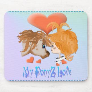 Meine PonyZ Liebe mit Buchstaben gekennzeichnetes Mousepad