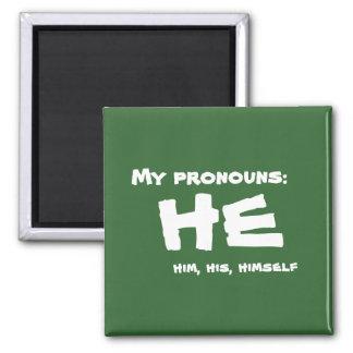 Meine Pronomina er Quadratischer Magnet