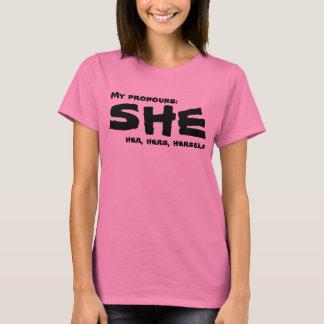Meine Pronomina sie T-Shirt