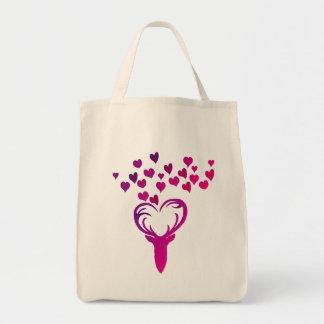 Meine Rotwild-Herz-Einkaufstasche Tragetasche