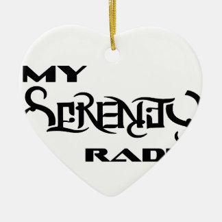 Meine Ruhe-Radio-Produkt-Stütztierärzte Keramik Herz-Ornament