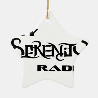 Meine Ruhe-Radio-Produkt-Stütztierärzte Keramik Stern-Ornament