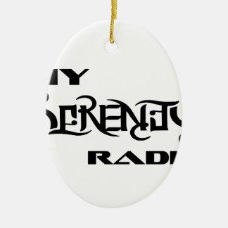 Meine Ruhe-Radio-Produkt-Stütztierärzte Ovales Keramik Ornament