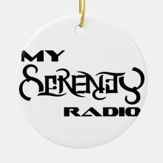 Meine Ruhe-Radio-Produkt-Stütztierärzte Rundes Keramik Ornament