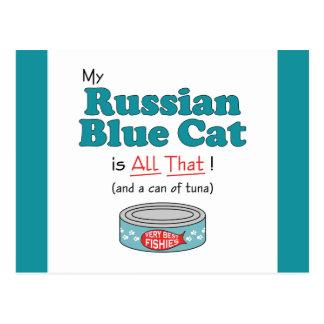 Meine russische blaue Katze ist alle das! Lustige Postkarte