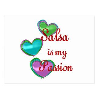 Meine Salsa-Leidenschaft Postkarte