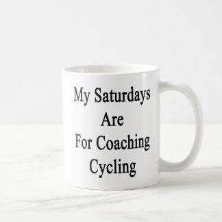 Meine Samstage sind für coachten das Radfahren Kaffeetasse