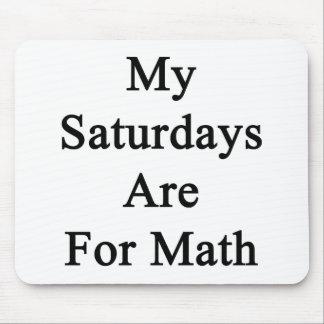 Meine Samstage sind für Mathe Mousepad