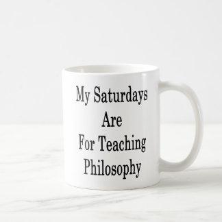 Meine Samstage sind für unterrichtende Philosophie Kaffeetasse