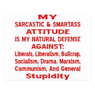 Meine sarkastische u. Klugscheißer-Haltung ist Postkarte
