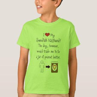Meine schwedische Vallhund Liebe-Erdnussbutter T-Shirt