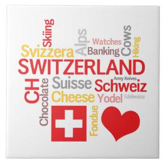 Meine Schweizer Lieblingssachen lustig Keramikfliese