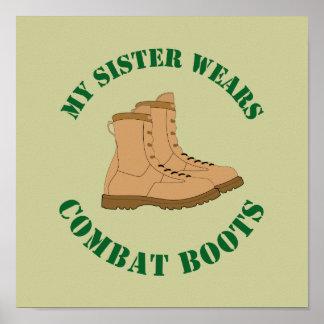 Meine Schwester trägt Kampf-Stiefel - Plakat
