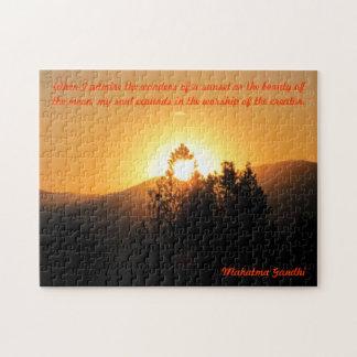 Meine Sohle erweitert - Gandhi Zitat Puzzle
