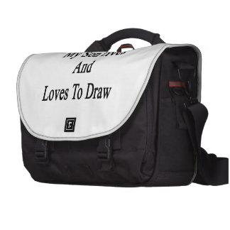 Meine Sohn-Leben und Lieben zu zeichnen Laptop Taschen
