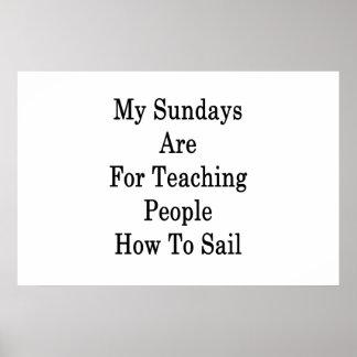 Meine Sonntage sind für unterrichtende Leute, wie Poster