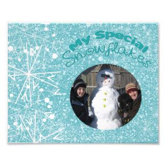 Meine spezielle Schneeflocke-Matte Fotodruck