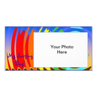 Meine surfende TagFotokarte Foto Grußkarte
