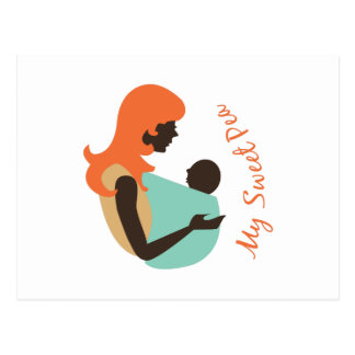 Meine süße Erbse Postkarte