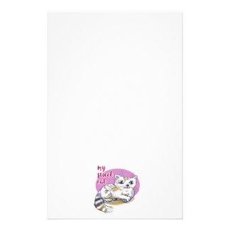 meine süße Katzen-Cartoon-Artillustration Briefpapier