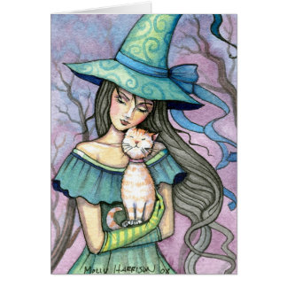 Meine süße Tabby-Hexe-Katzen-Karte Notecard Grußkarte