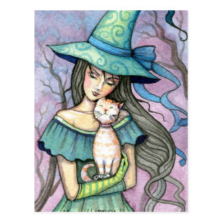 Meine süße Tabby-Hexe-Katzen-Postkarte Postkarte