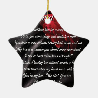 Meine süßen Wunder-Poesie-Kunst-Geschenke Keramik Ornament