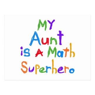 Meine Tante Math Superhero T-shirts und Geschenke Postkarten