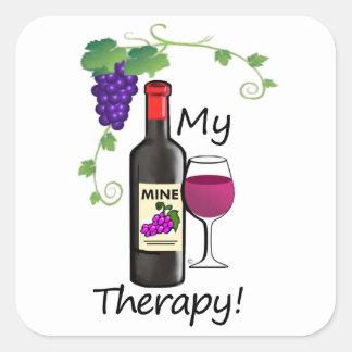Meine Therapie Quadratischer Aufkleber