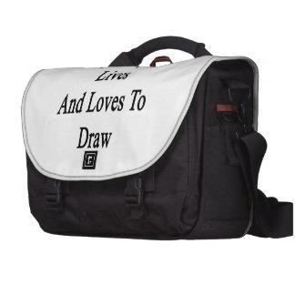 Meine Tochter-Leben und Lieben zu zeichnen Laptoptasche