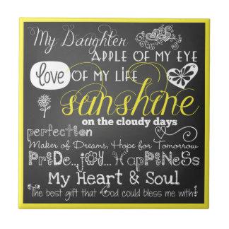 Meine Tochter-Liebe und Inspiration CeramicTile Fliese