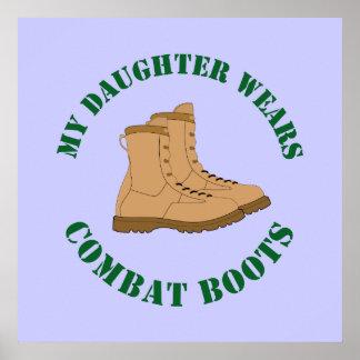 Meine Tochter trägt Kampf-Stiefel - Plakat