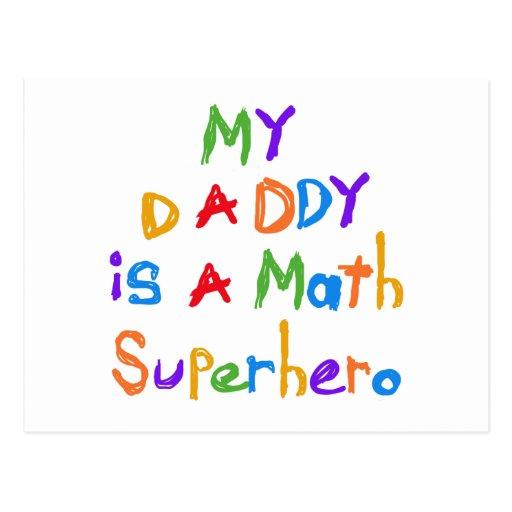 Meine Vati-Mathe-Superheld-T-Shirts und Geschenke Postkarten