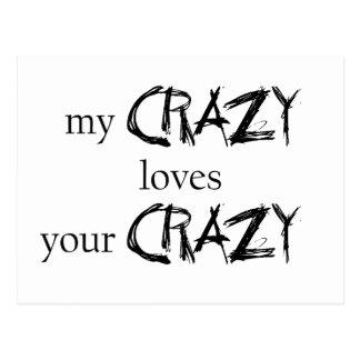 Meine verrückten Lieben Ihre verrückte Postkarte