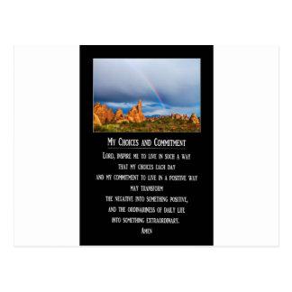 Meine Wahlen und Verpflichtungs-Gebet Postkarte