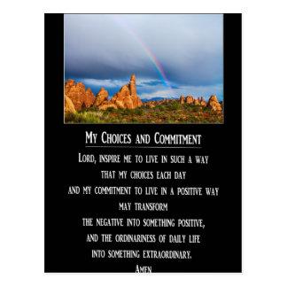 Meine Wahlen und Verpflichtungs-Gebet Postkarten