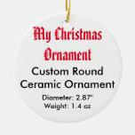 Meine Weihnachtskundenspezifische Keramik-flache Weihnachtsbaum Ornamente