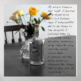 meine wifes Blumen Posterdruck