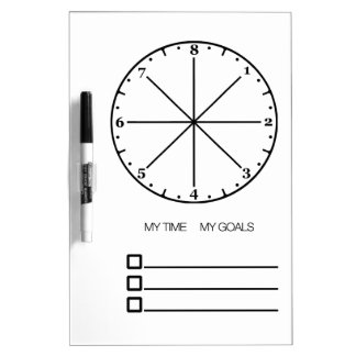Meine Zeit meine Ziele - Achtstundenuhr Whiteboard