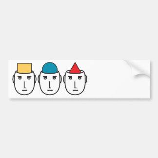 Meinungs-Diversity Autoaufkleber