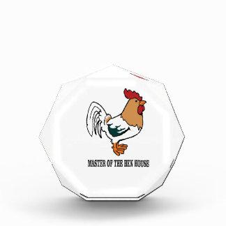 Meister des Hühnerstalls ja Acryl Auszeichnung