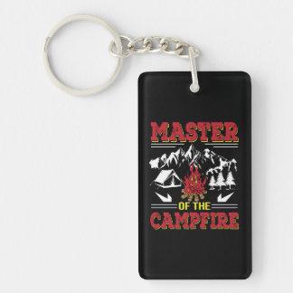 Meister des Lagerfeuer-lustigen Campings-Shirts Schlüsselanhänger