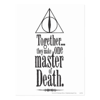 Meister Harry Potter-Bann-| des Todes Postkarte